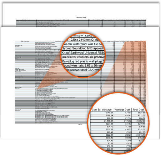 Materials used report | Construction Software for Builders
